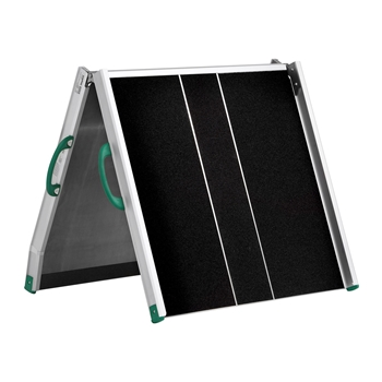 Wide and robust foldable ramps