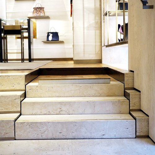 Platform lift designed for embedding in a flight of stairs or steps The Stepless SLP C platform lift is a bespoke model designed for embedding in a flight of stairs or steps, with a platform at the upper level.